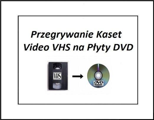 Przegrywanie Kaset Video VHS na Pcyty DVD