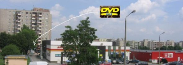 """Wypożyczalnia filmów DVD """"ALFA"""" Opole ul. Sieradzka 3 Malinka"""